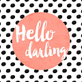 Hello Darling Coral And Dots by Allyson Johnson