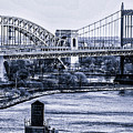 Hells Gate Bridge Triborough Bridge  by Tommy Parker
