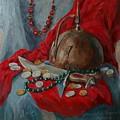 Helmet With Knife by Natalia Shtainfeld-Borovkov