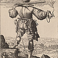 Helmeted Musketeer by Jacques De Gheyn Ii After Hendrik Goltzius