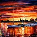 Helsinki - Sailboats At Yacht Club by Leonid Afremov