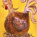 Hen Nesting by Eloise Schneider