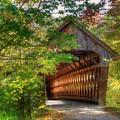 Henniker Covered Bridge - Autumn In New Hampshire by Joann Vitali