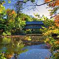 Henniker Covered Bridge In Autumn by Joann Vitali