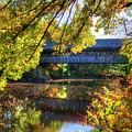 Henniker Covered Bridge In Autumn - New Hampshire by Joann Vitali