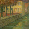 Henri Le Sidaner 1862 - 1939 Home Channel by Adam Asar