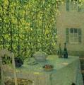Henri Le Sidaner 1862 - 1939 The Village Table Gerberoy by Adam Asar