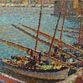 Henri Martin 1860 - 1943 Boats To Collioure by Adam Asar