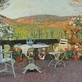 Henri Martin 1860 - 1943 Tea Time On The Terrace Marquayrol by Adam Asar