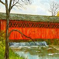 Henry Bridge Vt. by Marveta Foutch