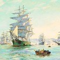 Tranquil Morning - Foochow, The Famous Clipper Thermopylae At Anchor by Henry Scott