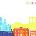 Heraklion Skyline Pop by Pablo Romero