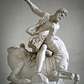 Hercules And Centaur Sculpture by Artecco Fine Art Photography