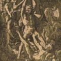 Hercules Killing Cacus by Hendrik Goltzius