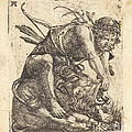 Hercules Overcoming The Nemean Lion by Albrecht Altdorfer