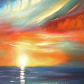Here It Goes - Colorful Sunset by Gina De Gorna
