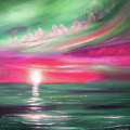 Here It Goes - Square Sunset Painting by Gina De Gorna