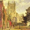 Hereford Cathedral by John William Buxton Knight