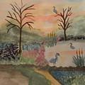 Heron's Hangout At Sunrise by Maria Urso