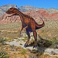 Herrarsaurus In Desert by Frank Wilson