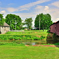 Herr's Grist Mill And Covered Bridge by Lisa Wooten