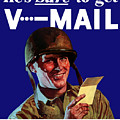 He's Sure To Get V-mail by War Is Hell Store