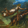 Hesiod And The Muse by Eugene Delacroix