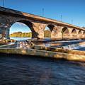 Hexham Bridge And Fish Pass by David Head