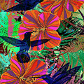 Hibiscus And Hummers by Sandra Selle Rodriguez