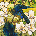 Hibiscus And Parrots by Louis Comfort Tiffany