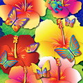 Hibiscus Feast by Jack Potter