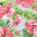 Hibiscus Paradise-jp3965 by Jean Plout