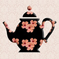 Hibiscus Pattern Teapot by Anthony Murphy