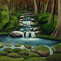 Hidden Waterfall by Nancy Mueller