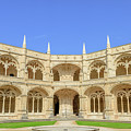 Hieronymites Monastery Courtyard by Benny Marty