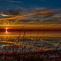 Higgins Lake The Perfect Sunset by Joe Holley