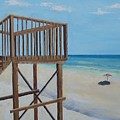 High Deck At Blue Mountain Beach by John Terry