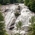 High Falls At Dupont Forest by Donald Spencer