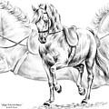 High School Dance - Lipizzan Horse Print by Kelli Swan