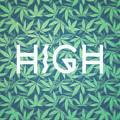 High Typo  Cannabis   Hemp  420  Marijuana   Pattern by Philipp Rietz