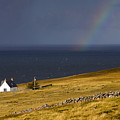Highland Cottage With Rainbow Applecross by John McKinlay