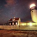 Highland Light Truro Massachusetts Cape Cod Starry Sky Shadow by Toby McGuire