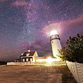 Highland Light Truro Massachusetts Cape Cod Starry Sky Shadow Yard by Toby McGuire