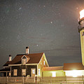 Highland Light Truro Massachusetts Cape Cod Starry Sky by Toby McGuire
