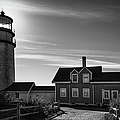 Highland Lighthouse Bw by Joan Carroll
