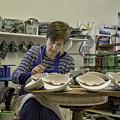 Highland Stoneware Artist At Work by Fran Gallogly