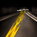 Highway Lines Dance At Night by Ed Book