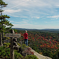 Hiker In Acadia National Park by Kevin Shields