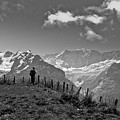Hiker In The Alps by Aquadro Photography