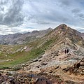 Hikers On Columbine Pass - Weminuche Wilderness - Colorado by Bruce Lemons